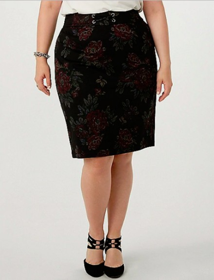 Dressbarn – Rose Ponte Pencil Skirt